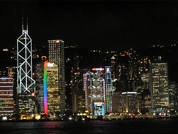 Obiective turistice Hong Kong: HK by night