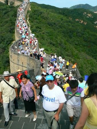 Imagini China: pe metereze Marele Zid