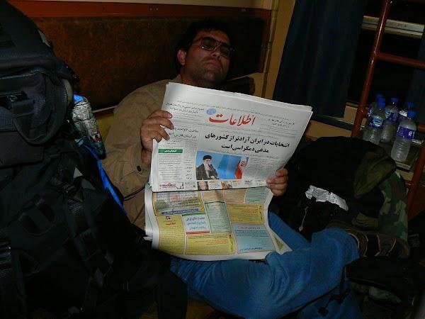 Imagini Iran: cuseta tren Iran Drumul spre China