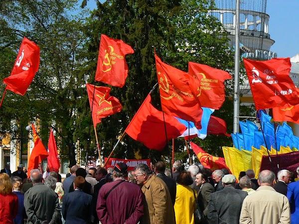 Obiective turistice Ucraina: manifestatie 1 Mai.JPG