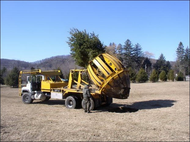 Tree Spade and Transporter 17