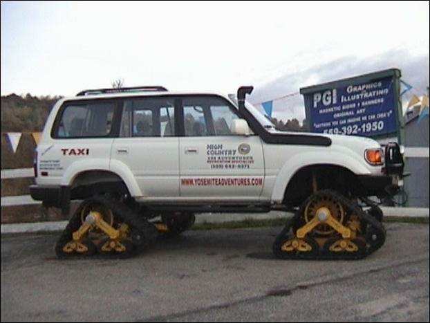 Mattrack Truck: the skiing car