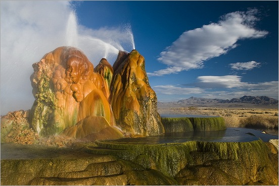 Fly Geyser in Black Rock Desert 12