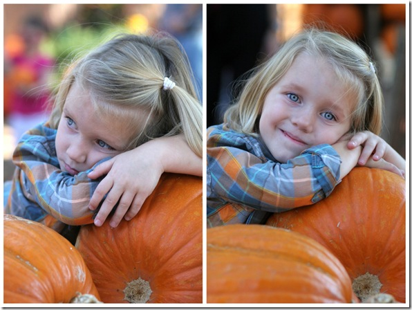 berk leaning on pumpkins