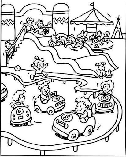 Parques de diversiones en dibujos para colorear - Imagui