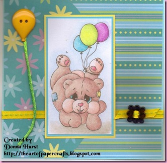Freebie Bear card