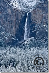 Bridalveil Fall After Snow Storm, Yosemite