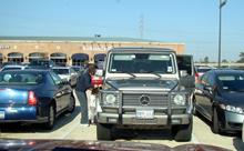 A Mercedes SUV