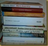 Noen av de siste ukers bokkupp. Blir artig med Nyquist, tror jeg.