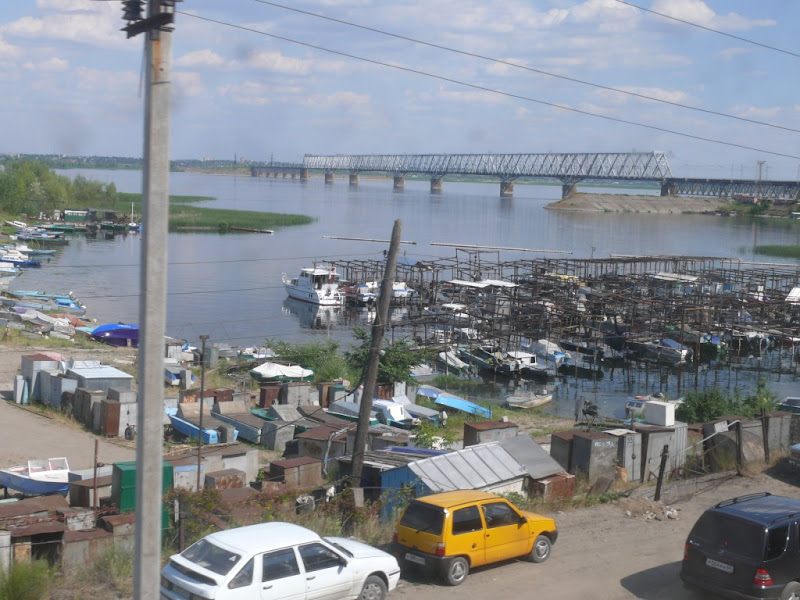 Railway bridge over Volga