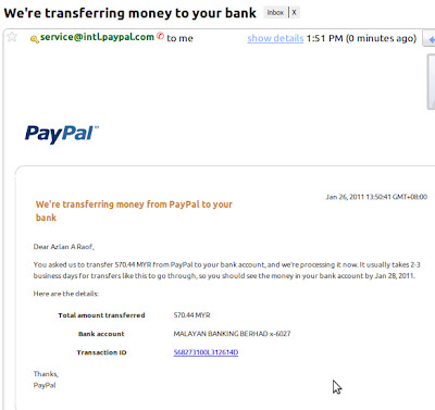 How To Transfer Money from PayPal to Maybank account - Show Me The Way