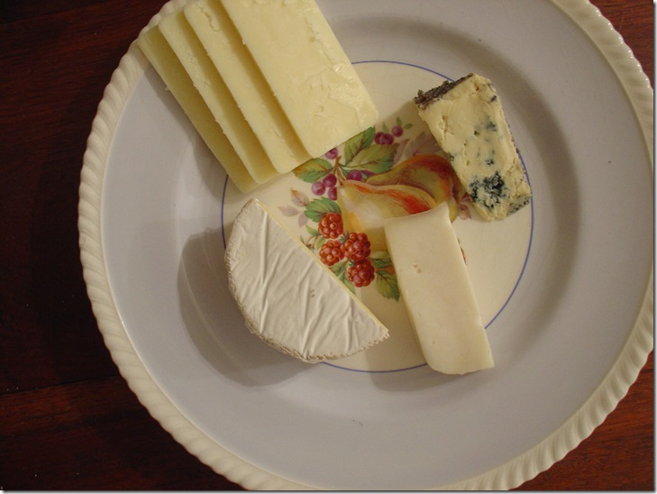 As part of a post-dinner cheese plate