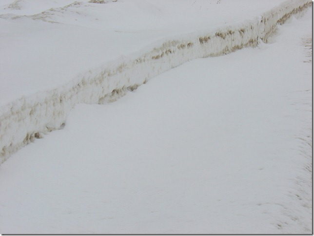 Layers of snow
