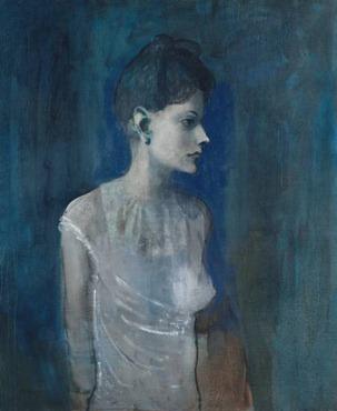 Pablo Picasso - Girl in a Chemise, circa 1905