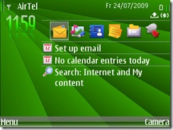 Screenshot of Spring Time theme for E71 and E71x