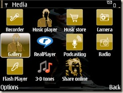 Screenshot of MJ theme by Dusty Janeway for E71