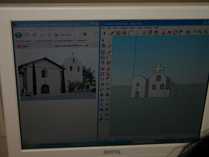 Student mission work in Google SketchUp