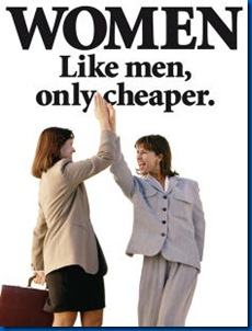 women cheaper