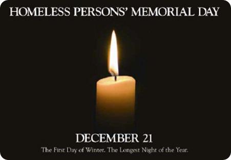 homeless memorial day