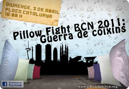 pillow fight barcelona