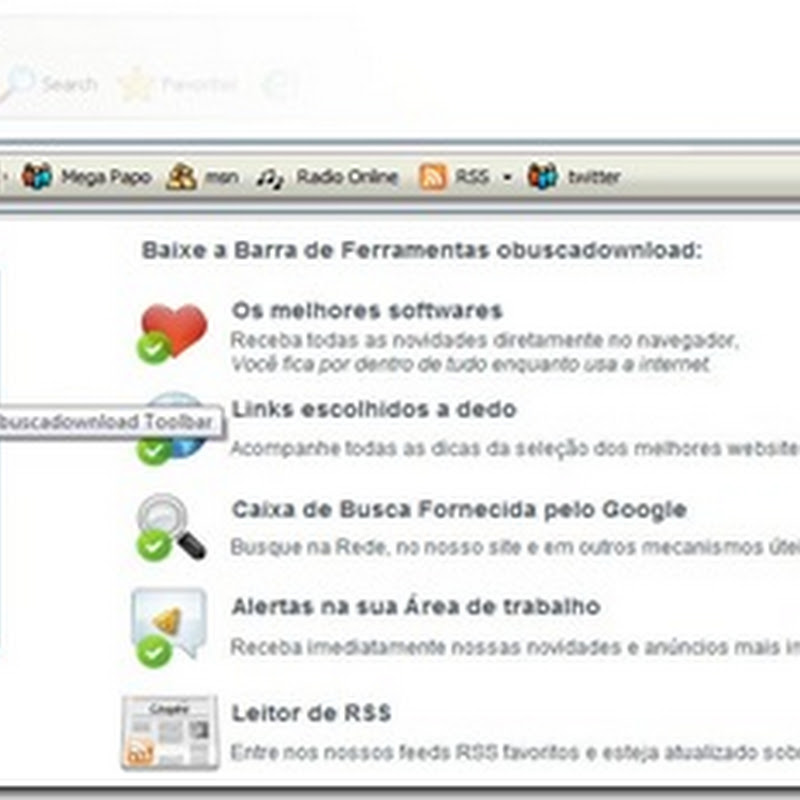 obuscadownload Barra de ferramentas da comunidade