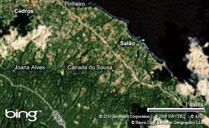 Imagem no mapa