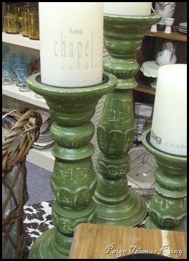 green pillars