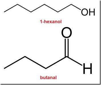 butanal&hexanol