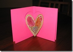 pink card with zentangle
