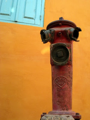 Fire hydrant on the Ile de Goree in Dakar Senegal