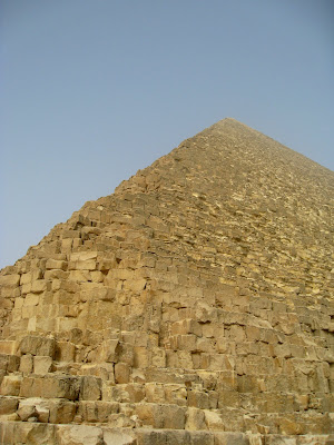 Side of a pyramid in Giza