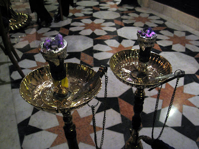 Shisha at the Khan El Khalili Cafe in Cairo Egypt