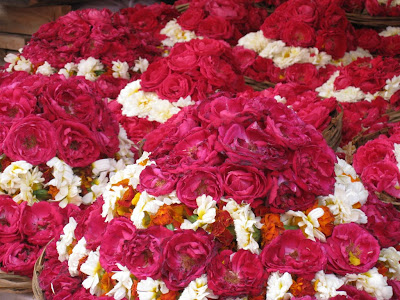 Flowers in Ajmer mosque in India