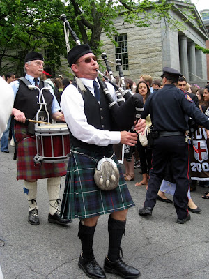 Bagpiper at Brown University reunion weekend