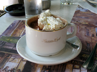 The hot chocolate at Les Deux Garcons in Aix en Provenc