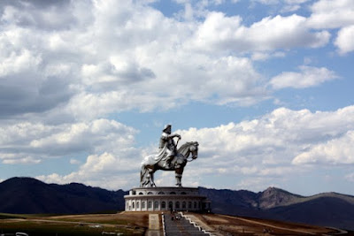 Giant statue of Genghis Khan in Terelj National Park in Mongolia