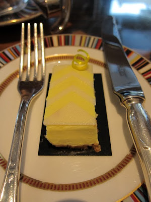 Jean Paul Gaultier-inspired cheesecake at Pret a Portea afternoon tea in London