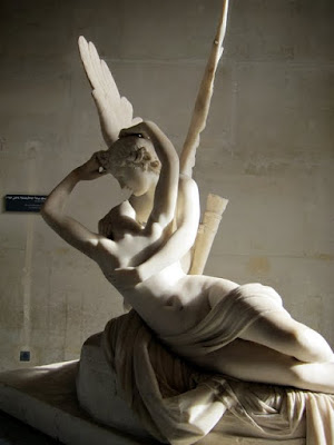 Canova's Cupid and Psyche sculpture in the Louvre on a private after-hours gour