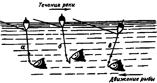 Положение поплавка при поклевке рыбы. Положення поплавка