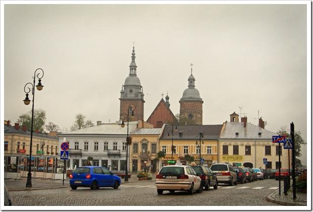 Nowy Sącz, Rynek, widok na Bazylike Kolegiacka św. Małgorzaty