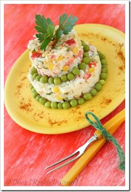 Ryżowa sałatka warzywna - Przy Dużym Stole