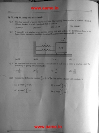 GATE Exam Question Papers