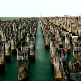 Princes Pier by Ian McKellar - Buildings & Architecture Decaying & Abandoned ( water, port melbourne, piers, derelict, seascape, abandoned )