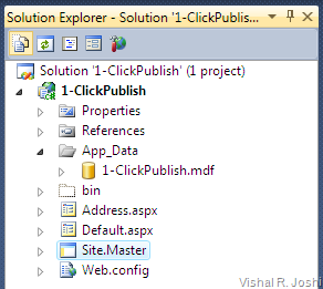 1-ClickPublish solution explorer