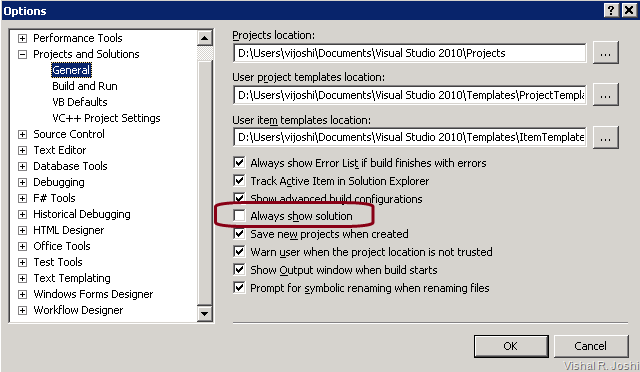 """Vishal Joshi\'s Tangent: Did you know: How to get """"Unload Project ..."""