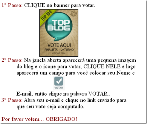 para votar no topoblog