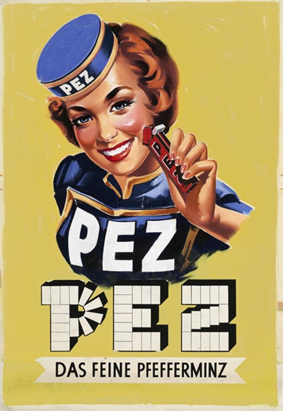 1950 the PEZ dispenser was invented – the dispenser was shaped and designed resembling a lighter