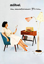 """Advertisement for """"Ilse Furniture"""", 1950ies"""