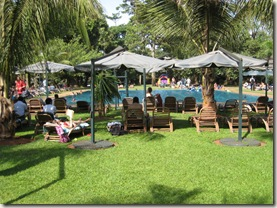 Pool and lawn at the Kabira Club