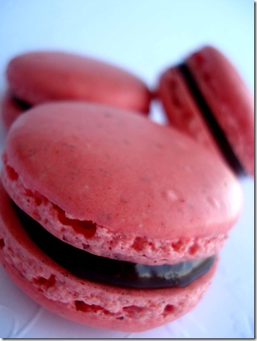 Cherry Cordial Macarons